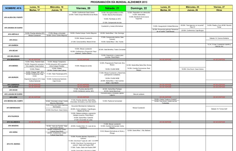 Programacion dia alzheimer 2013