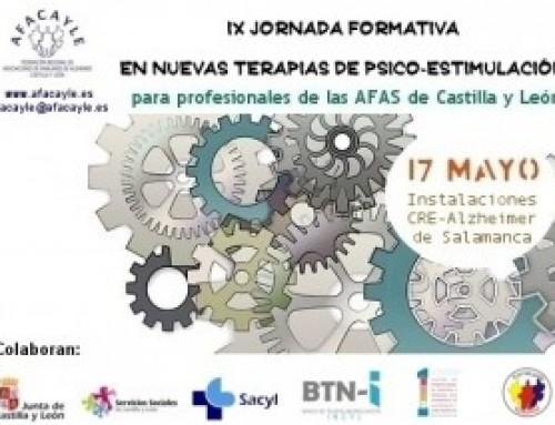 IX Jornada Formativa en Nuevas Terapias de Psico-Estimulación para profesionales de las AFAS de CyL