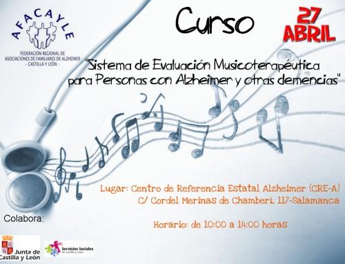 """Curso """"Sistema de Evaluación Musicoterapéutica para personas con Alzheimer y otras demencias"""""""