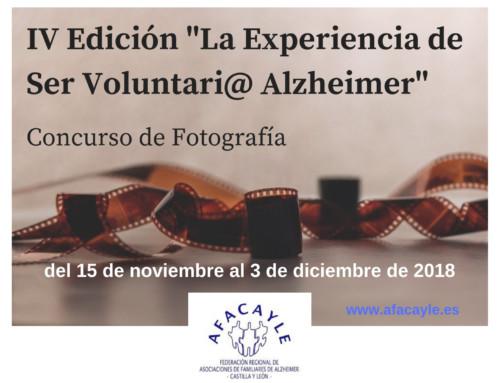 """AFACAYLE convoca la IV Edición """"La Experiencia de Ser Voluntari@ Alzheimer"""""""