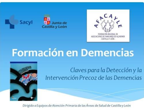 """Formación """"Claves para la Detección y la Intervención Precoz de las Demencias"""""""